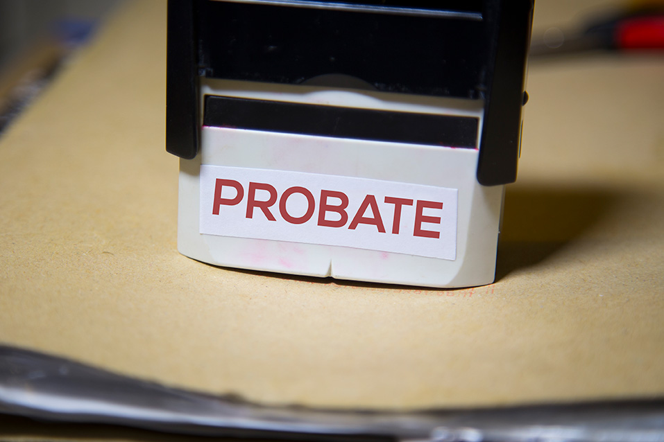 photo of a stamp used by an estate planning lawyer when probating a will, a process to verify that a will is valid