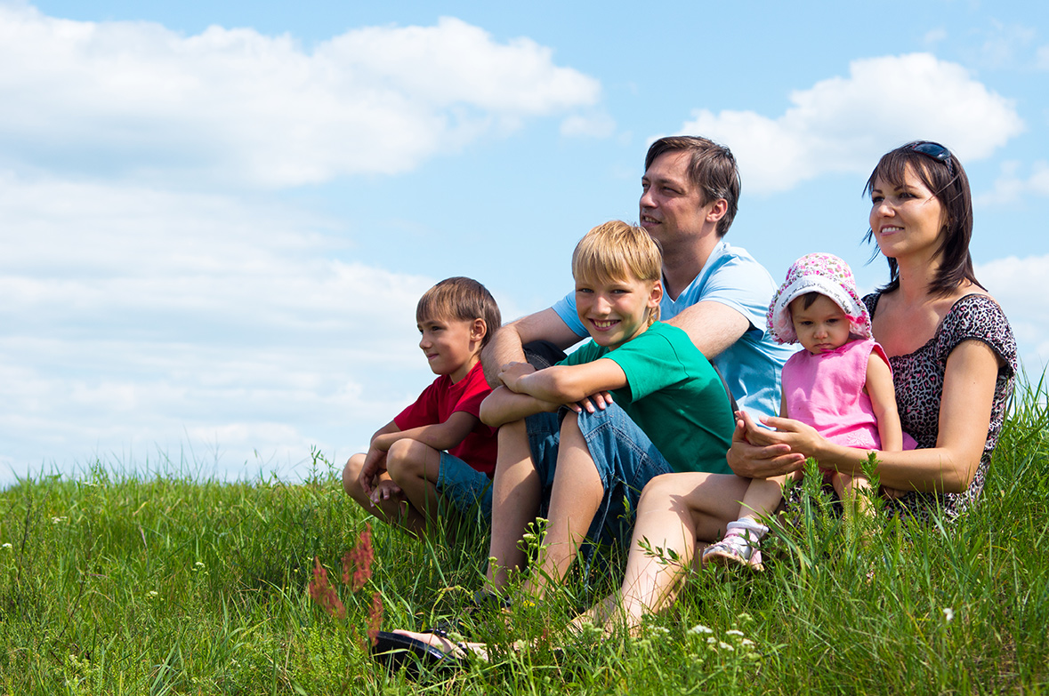 photo of a blended family in Alberta