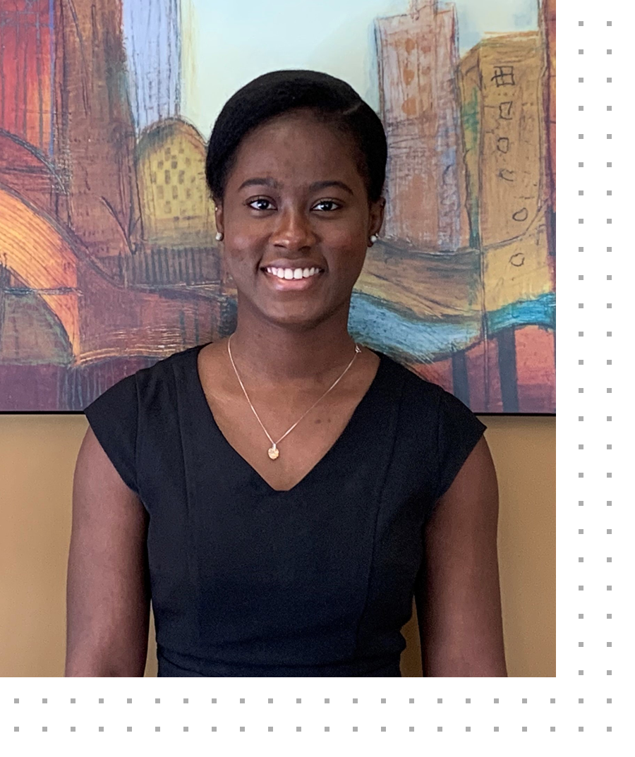 photo of Abena Wiafe is a recent graduate of the University of Alberta where she completed her National Committee on Accreditation requirements.